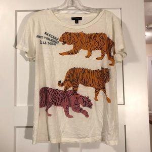 JCREW tiger tee